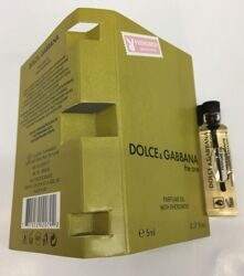 DOLCE & GABBANA the one PARFUM OIL WITH PHEROMON 5 ml