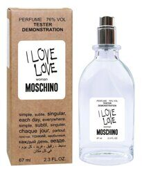 Пробник - тестер Moschino I Love Love for woman 67 ml.